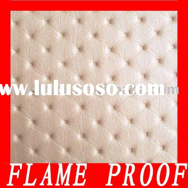 High quality flameproof upholstery PVC embossed artificial leather