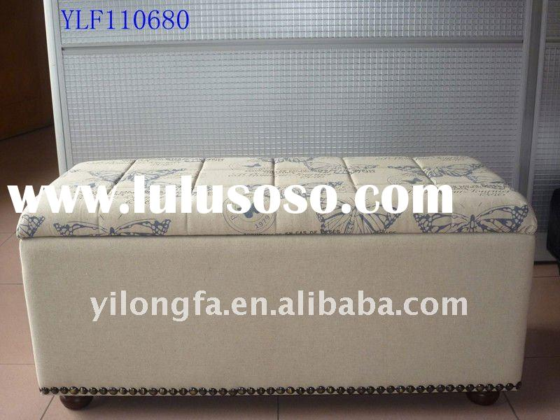 Home Decoration Fabric Storage Bench ,Rectangle Storage Ottoman - Storage Bench Singapore, Storage Bench Singapore Manufacturers In