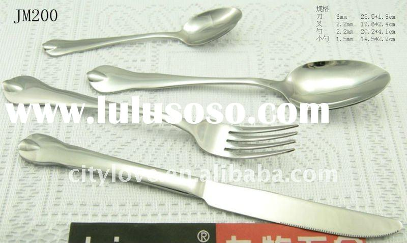 Hot sell stainless steel fork set and spoon