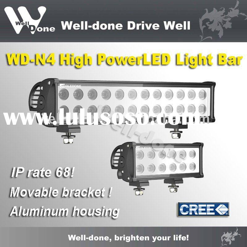 IP 68 auto LED light bar, high power 4x4 LED off road light, car LED bar light.