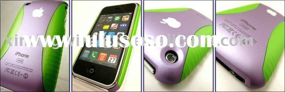 I Purple / Green hard cover case for Apple iPhone 3G 3GS