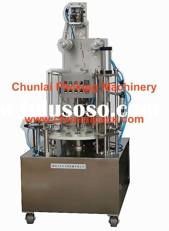 KIS-900 rotary type cup filling sealing machine