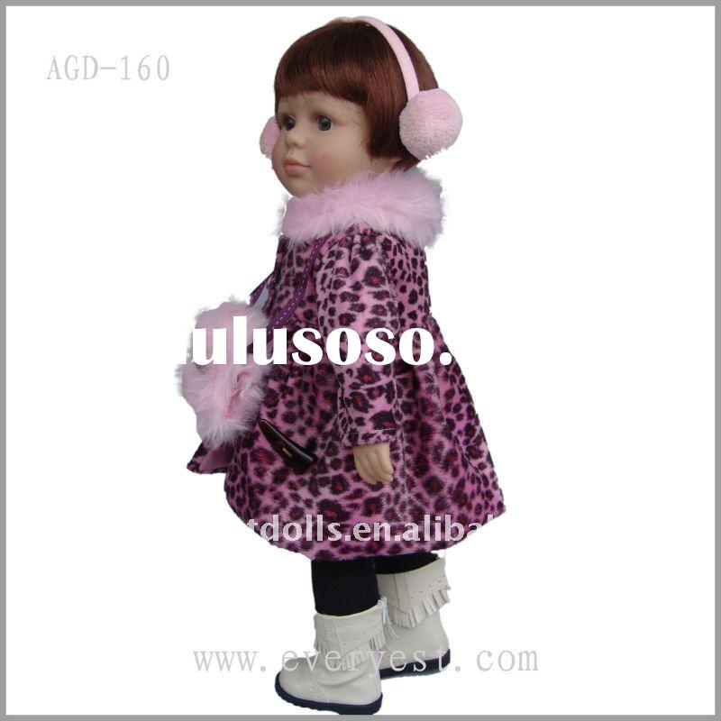 Lovely american girl doll with cute winter doll clothes
