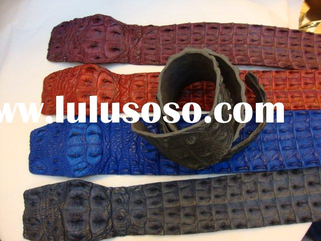 Luxury Crocodile skin waist belt,leather belt,