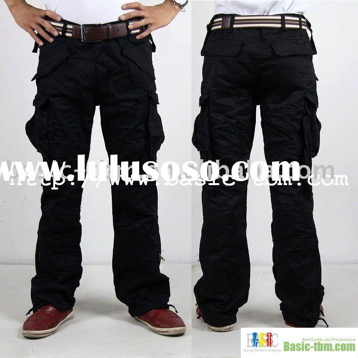 Black Cargo Pants For Mens