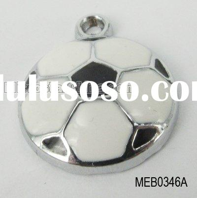 Metal enamel charms,enamel pendant, football