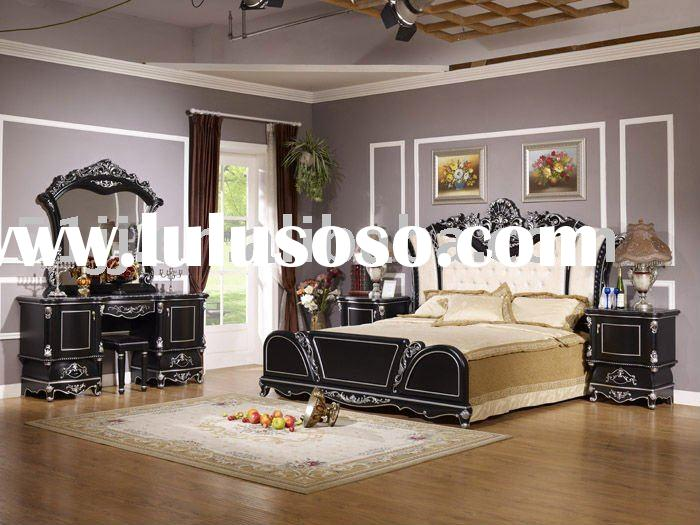 Middle east style wooden bedroom furniture set WLL-8817B