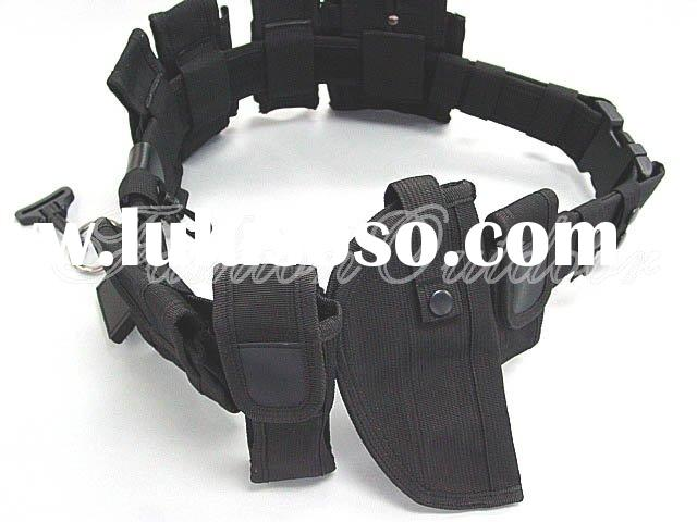 Modular Pouch Holder Police Belt w/ Holster #A 50602