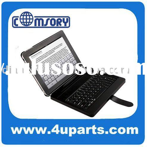 NEW for ipad ipad2 case cover with PU or genuine leather wireless bluetooth keyboard + pc fixer lapt