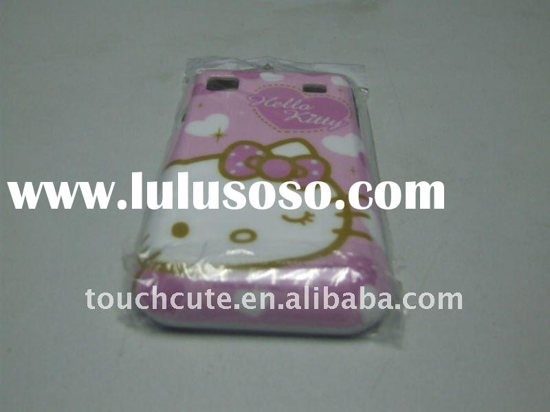 Newest design hello kitty pattern for samsung galaxy I9000 PC cover sleeve case