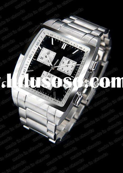 Nice slap stainless steel wrist watch,watches for men's