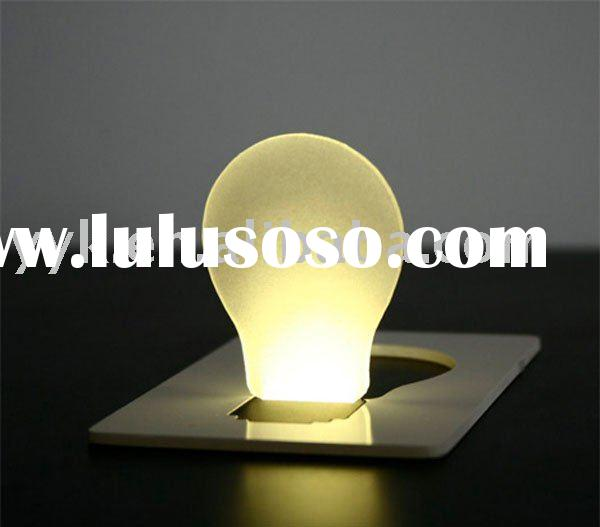 Novel pocket Led light bulb card