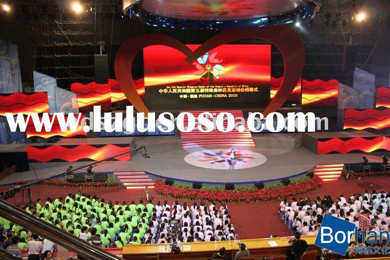 P10 led display screen stage background led video wall