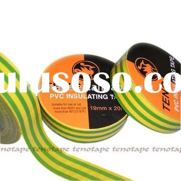 PVC Electrical Insulating Tape For Professional Color Code, Earth Tape