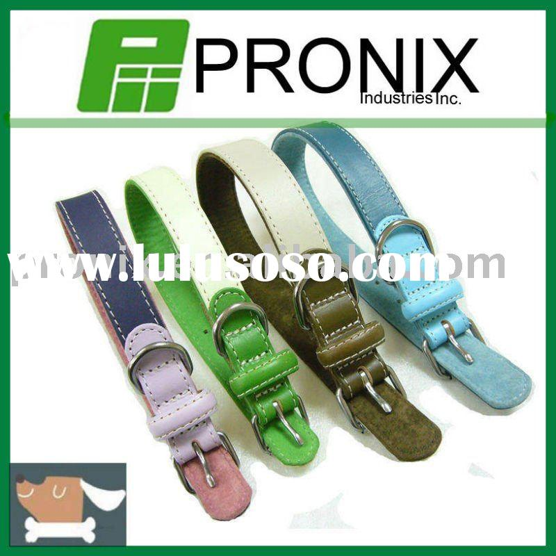 Padded Genuine Leather dog Collars
