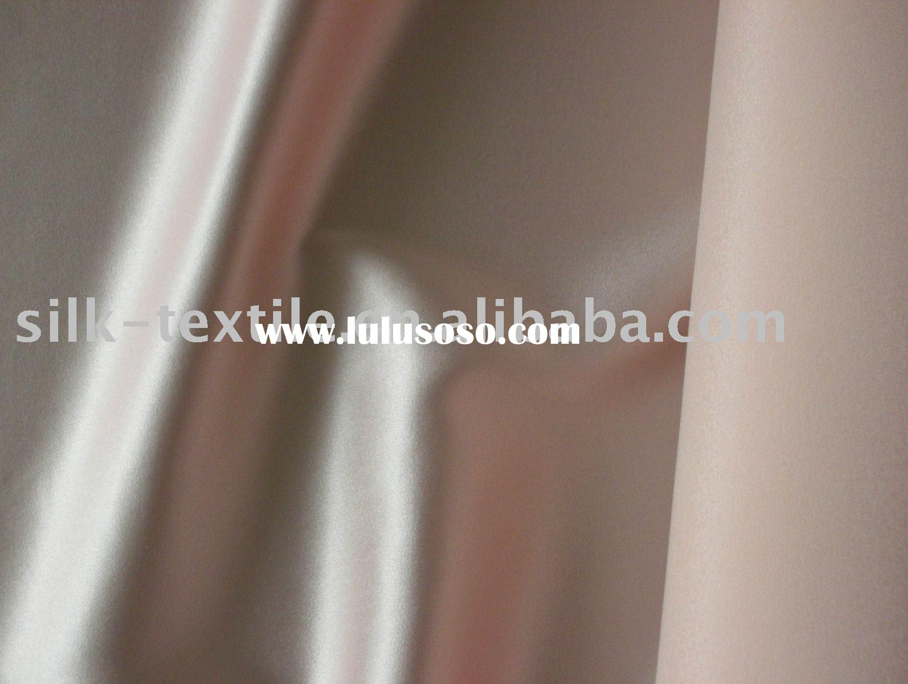 Pink silk satin/Stretched silk fabric/spandex silk satin/stretched silk charmeuse