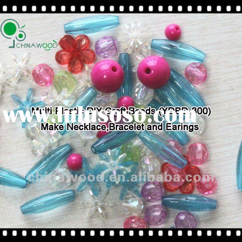 Plastic DIY Hobby Craft Beads to make bracelet,necklace and earrings