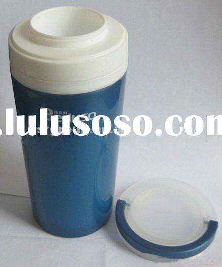 Plastic Double Wall Thermal Mug with Handle Ideal Promotional Cup
