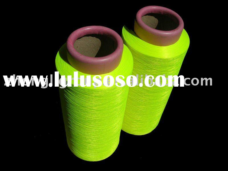 Polyester DTY Fluorescent Yarn, Reflecting Yarn, Safety Clothes Yarn