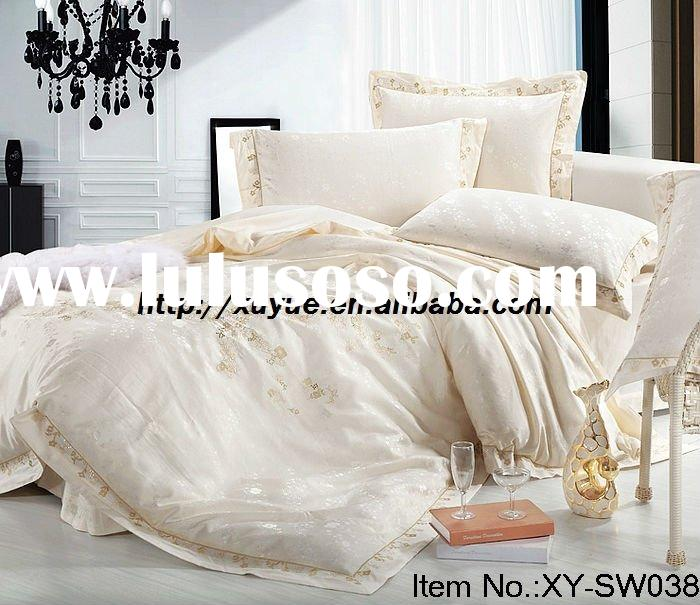 Professional Manufacturer 4pcs king size jacquard silk/satin bedding set comforter XY-SW038