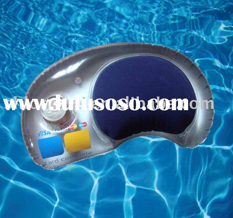 Promotional Inflatable Beach Pillow with cup holder
