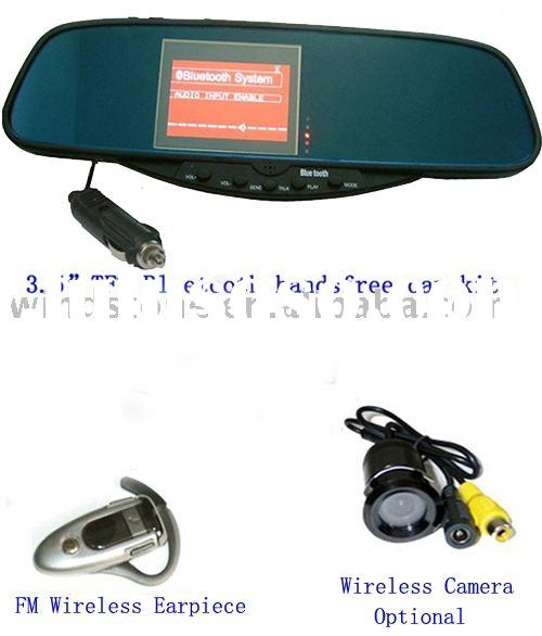 Rearview Mirror with Bluetooth Car Kit BT-728SE