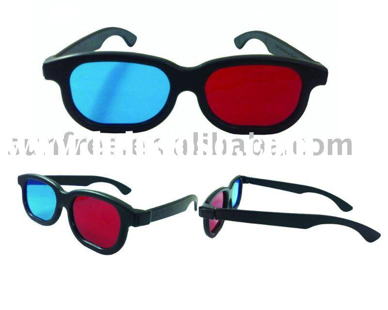 Red-Cyan/Green Plastic 3D glasses