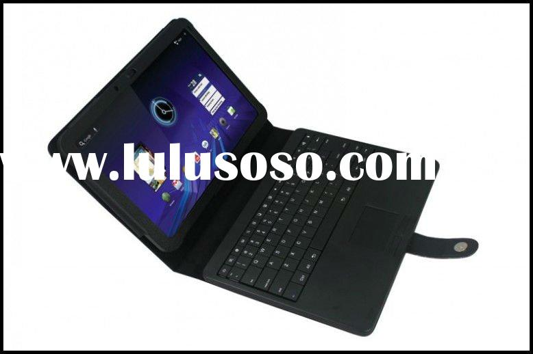 Removable Bluetooth Keyboard Leather Case With Touchpad For Motorola Xoom MID Tablet PC