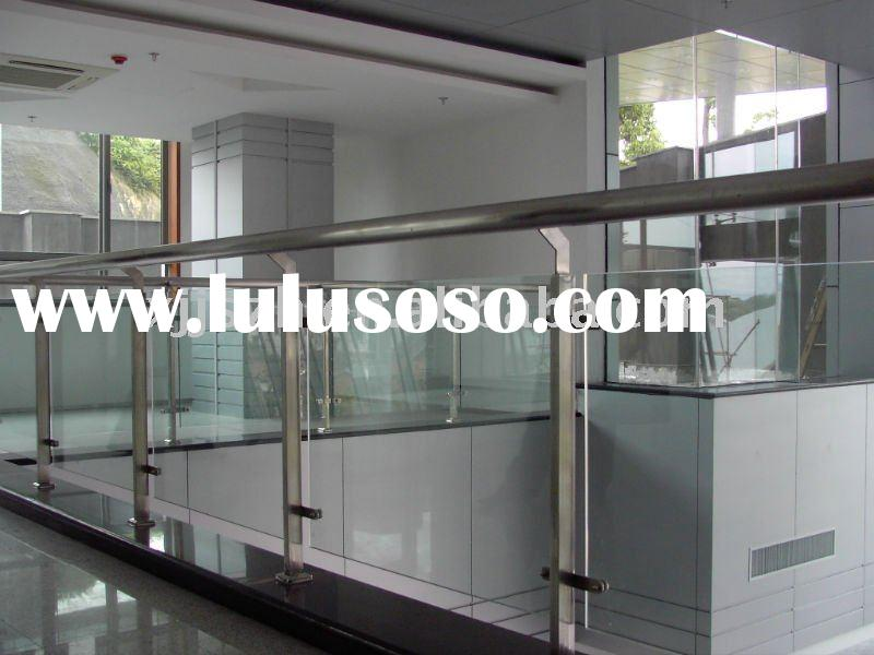 Stainless Steel Covered Plastic Glass Balcony Railing