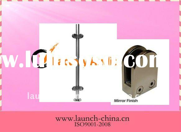 Stainless Steel Railing Round Post/Glass Clamps 90 degree
