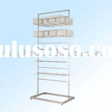Stainless steel display shelf with acrylic boxes