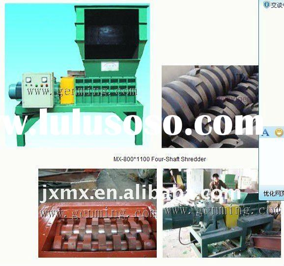 Strong power waste car tire shredder machine for sale