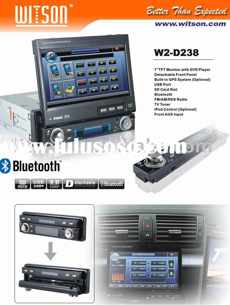 WITSON In-dash Car DVD with Detachable Front Panel, Bluetooth,USB port,SD card, RDS,Front AUX input