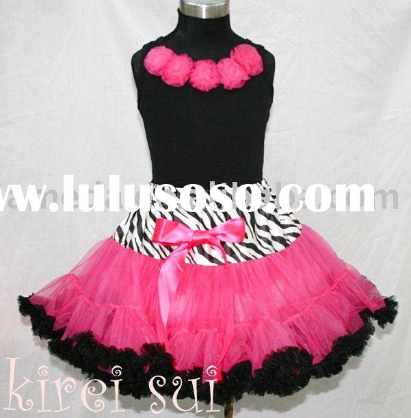 Zebra Hot Pink Black Pettiskirt Pageant Party Dance Tutu 1-10 Years