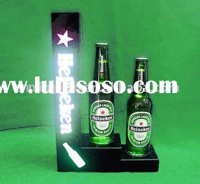 acrylic bottle display stand/beer bottle display/led wine display/wine display holder/glorifier/
