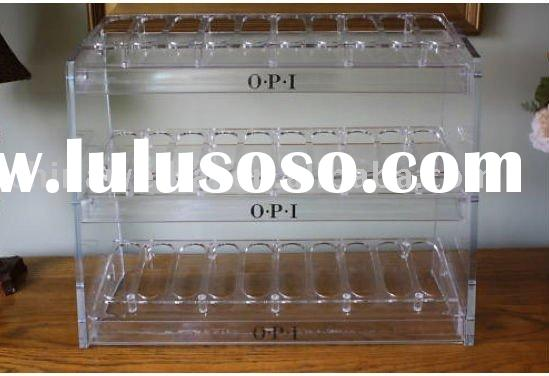 acrylic nail polish display/acrylic nailpolish stand/acrylic cosmetic display