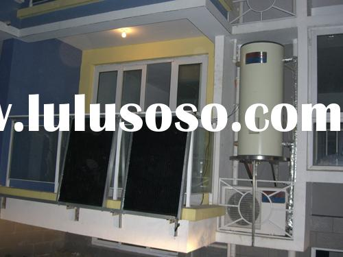 air to water heat pump and solar system