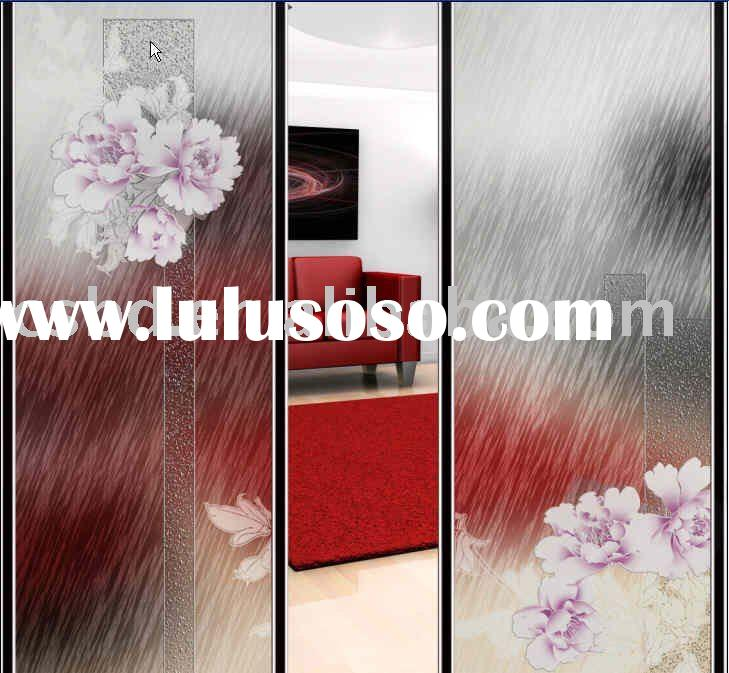 art glass sliding door