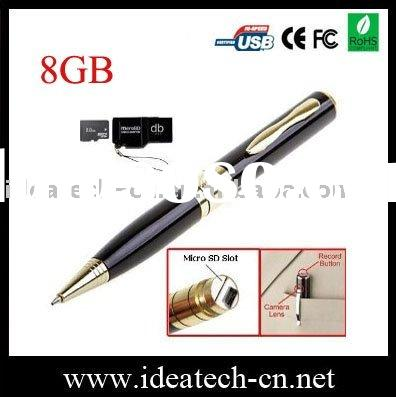 buit-in 8gb slim USB DVR pen,1-8gb micro SD card expandable
