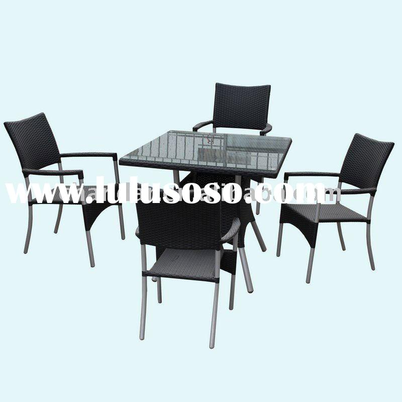 coffee shop furniture, wicker dining table and chair