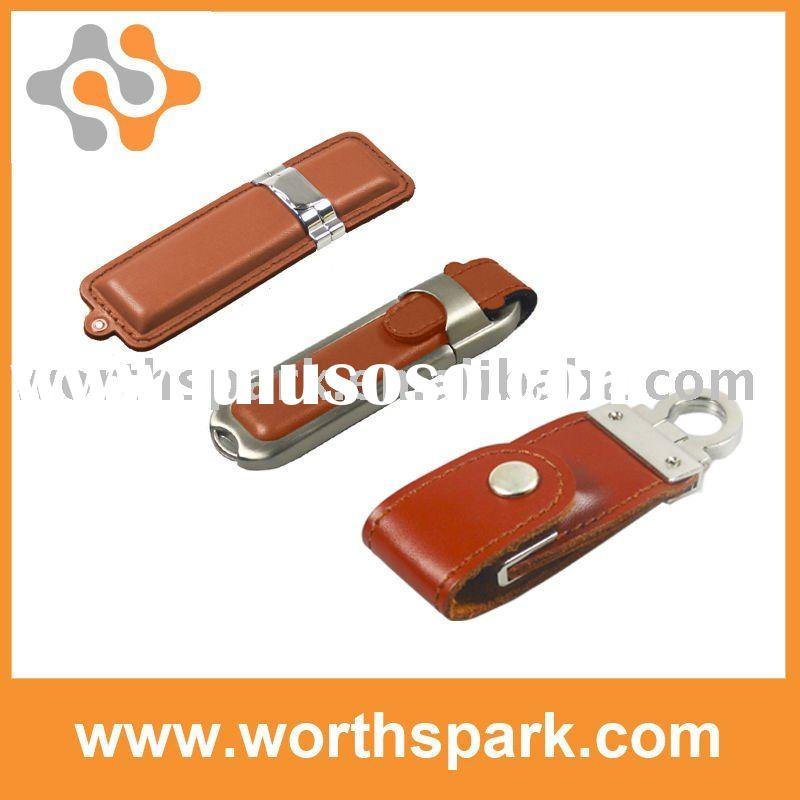 competitive price 4gb Leather USB stick with CE/ROHS