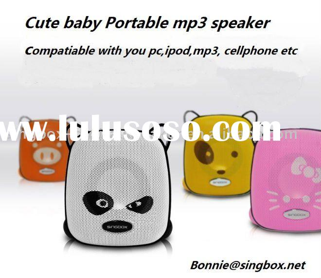 cute portable speaker for PC, mp3 and ipod