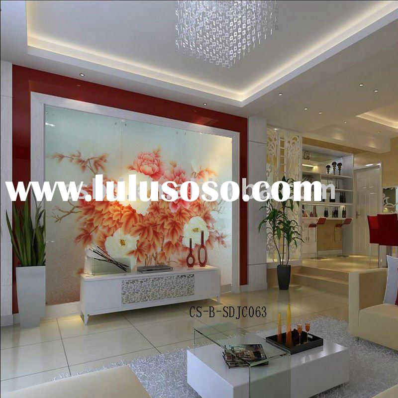 decorative glass ,art glass sliding door