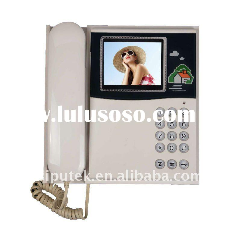 door phone 4 & 3.5-inch Color TFT LCD Indoor Monitor with 100 to 240V AC Working Voltage & S