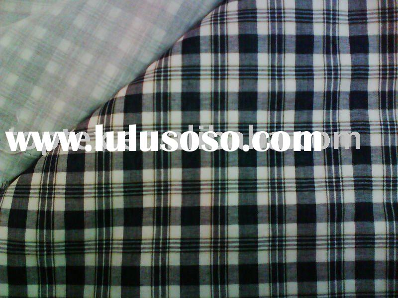 double cloth fabric/yarn dyed fabric/cotton checked fabric