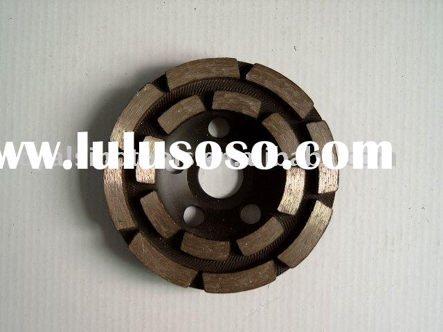 double row diamond cup grinding wheel