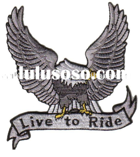 embroidery biker patch American eagle - live to ride