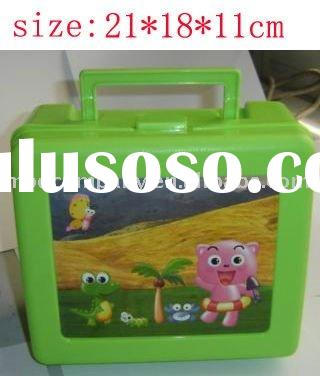 fashion plastic lunch box with handle