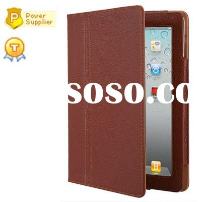 for iPad 2 case, for apple iPad 2 leather case