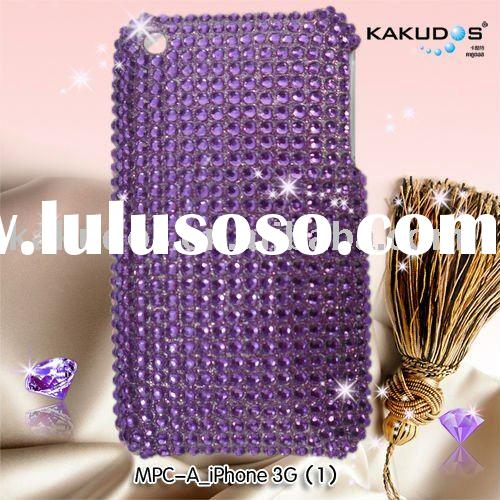 for iphone4 crystal cover with diamond case
